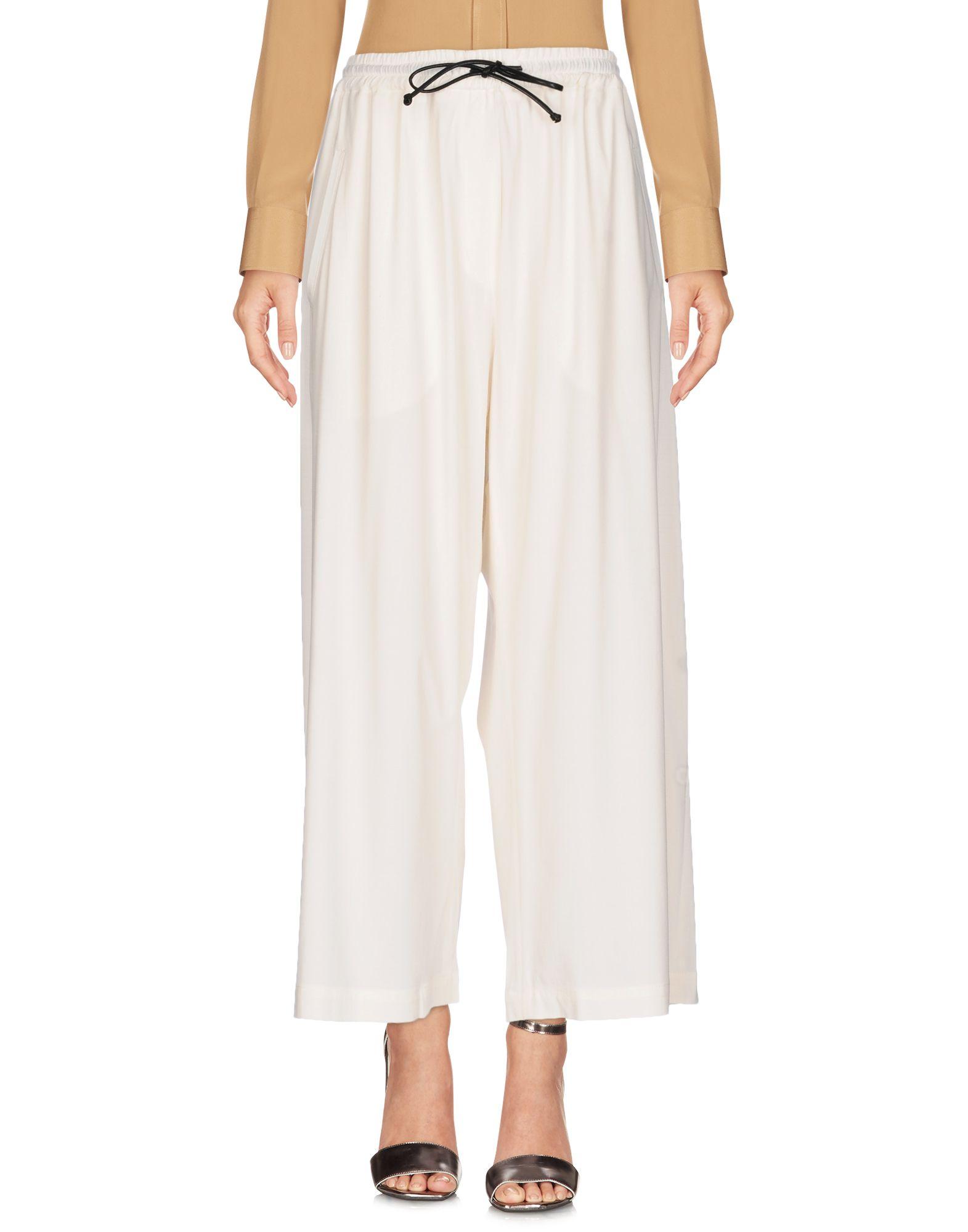 ISABEL BENENATO Damen Hose Farbe Weiß Größe 3
