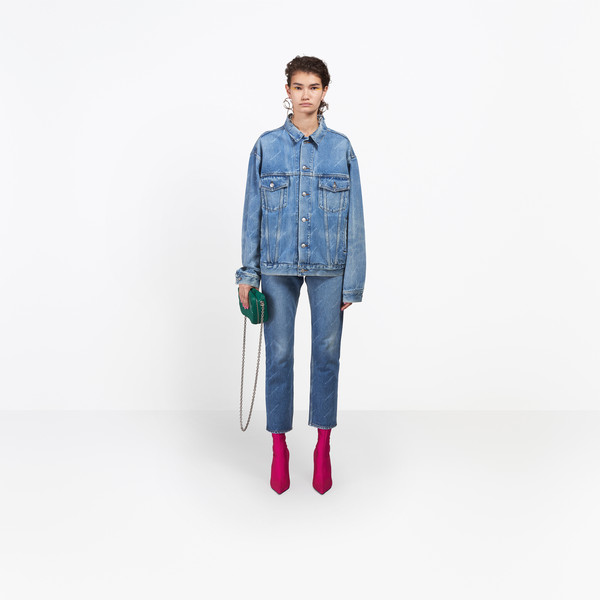 BALENCIAGA Denim D Logo Denim Jacket g
