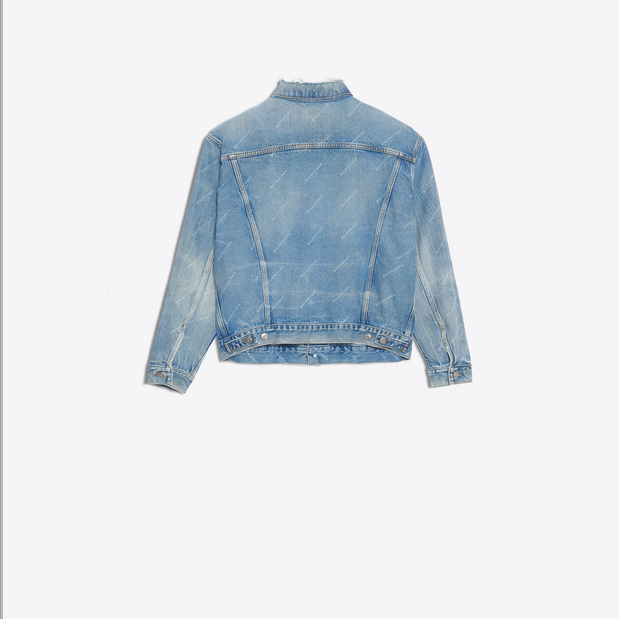 BALENCIAGA Logo Denim Jacket Denim D d