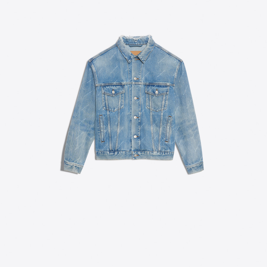 BALENCIAGA Logo Denim Jacket Denim D f