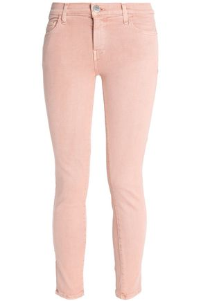 CURRENT/ELLIOTT Cropped mid-rise skinny jeans