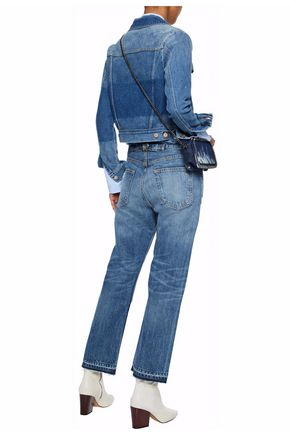 RAG & BONE Distressed patchwork boyfriend jeans