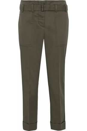 3.1 PHILLIP LIM Cropped cotton-blend twill tapered pants