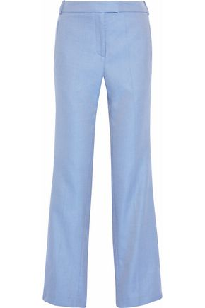 ROSETTA GETTY Cotton-jacquard straight-leg pants