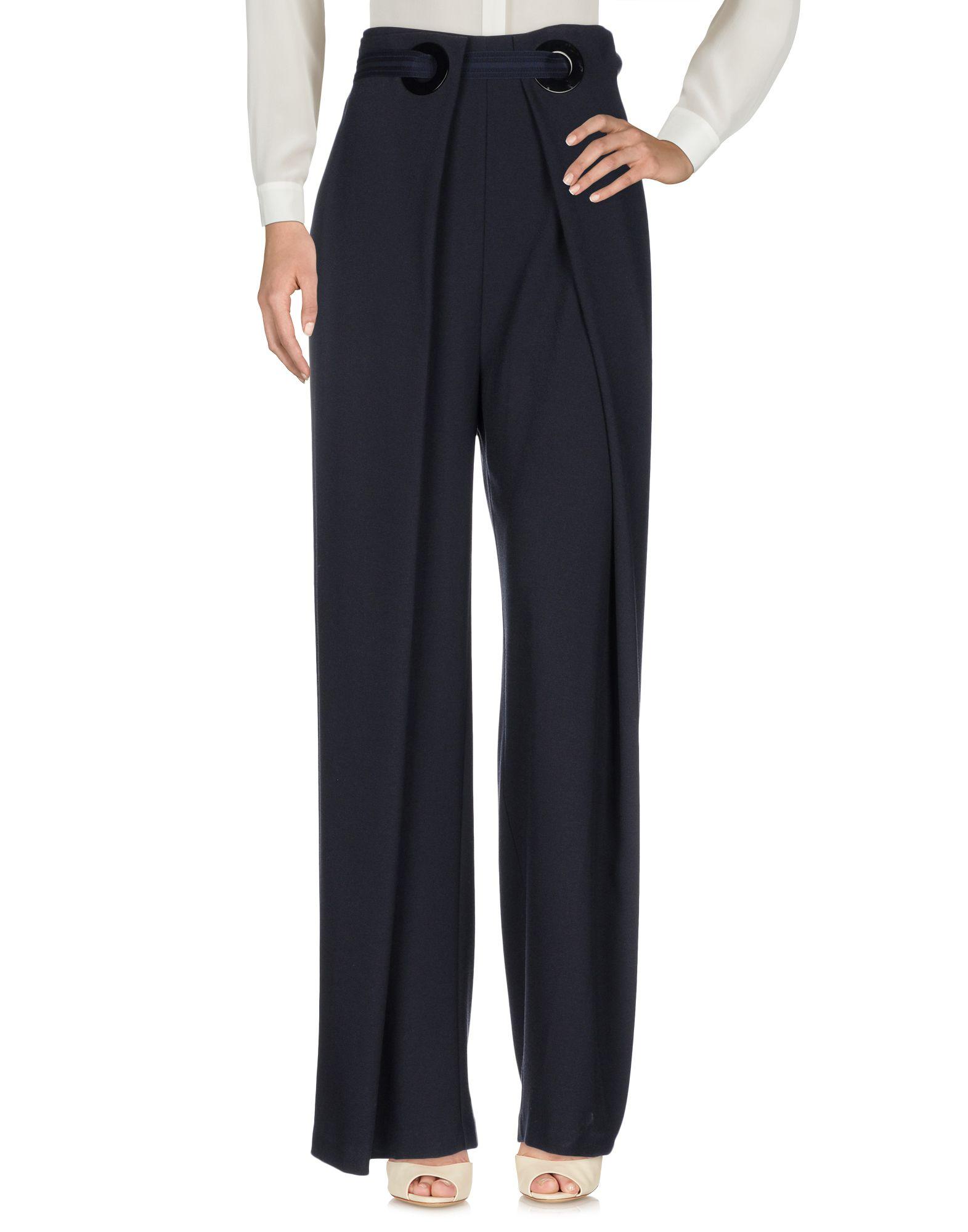 PINKO Повседневные брюки брюки широкие из однотонного жаккарда