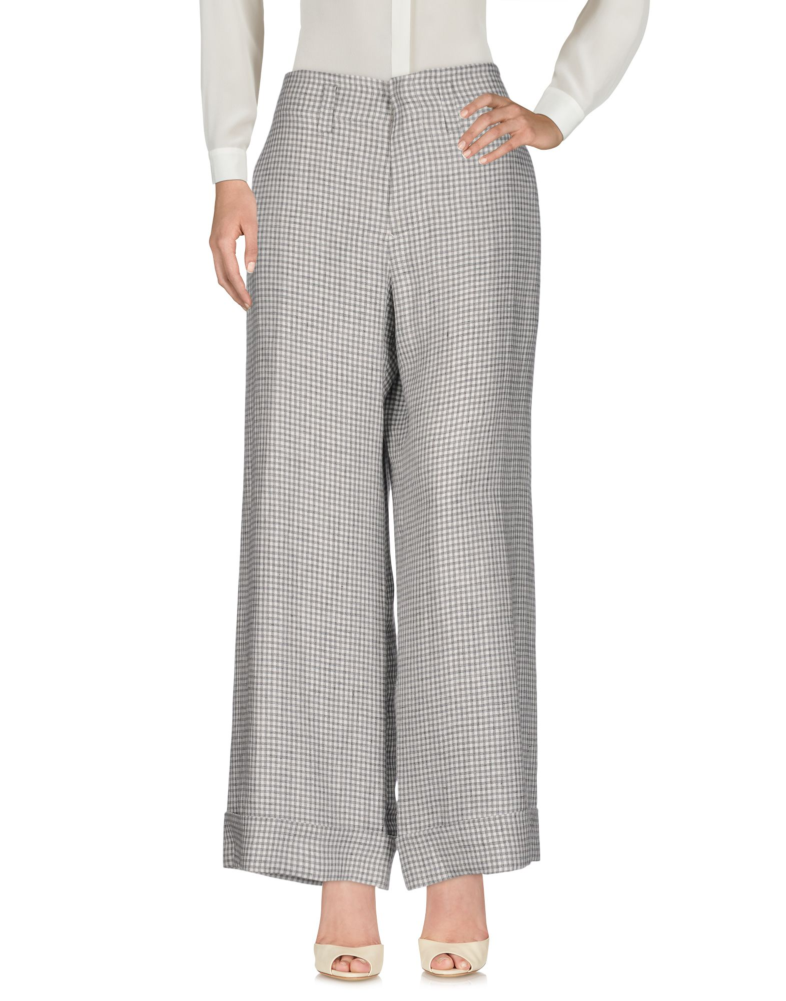 GOUSSET Повседневные брюки брюки широкие с принтом в клетку виши