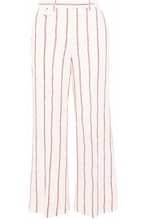 THEORY Striped linen wide-leg pants