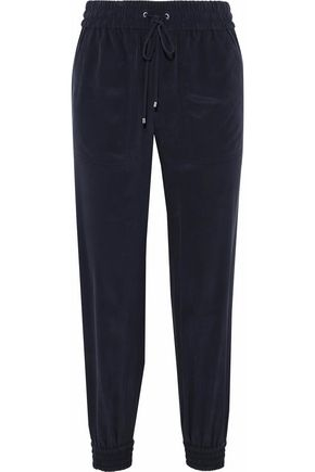 THEORY Washed-silk track pants