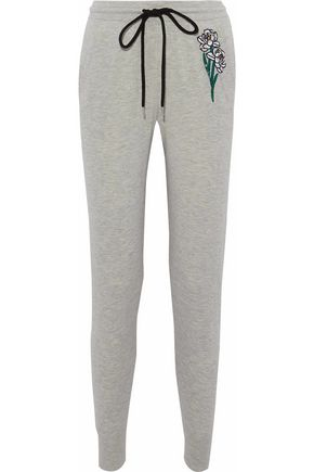 MARKUS LUPFER Embellished cotton track pants