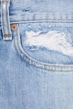 RAG & BONE Distressed mid-rise straight-leg jeans