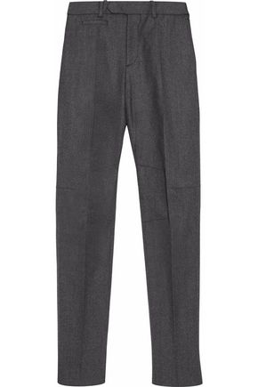 ALEXANDER MCQUEEN Marled felt tapered pants