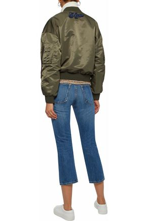 RAG & BONE Cropped faded mid-rise bootcut jeans