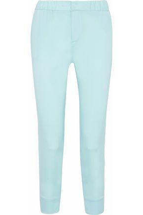 ROBERTO CAVALLI Cropped silk-blend slim-leg pants