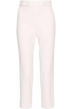 CUSHNIE ET OCHS Cropped crepe straight-leg pants