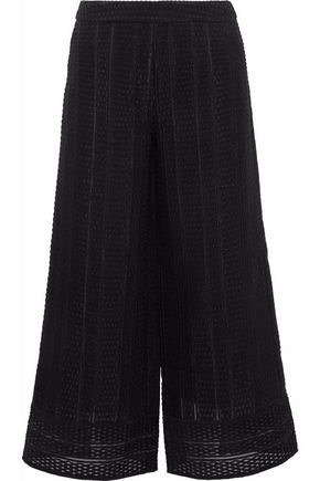 GOEN.J Embroidered organza culottes