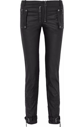 BELSTAFF Moto-style cotton-canvas slim-leg pants