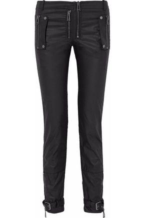 BELSTAFF Moto-style cotton-canvas slim-leg pants