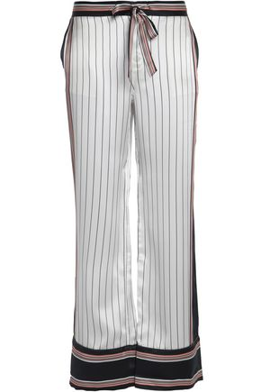 EQUIPMENT + Kate Moss Avery striped silk wide-leg pants