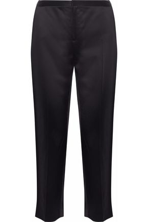 ROSETTA GETTY Cropped satin tapered pants