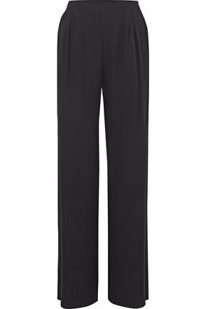 RAOUL Pleated silk crepe de chine wide-leg pants