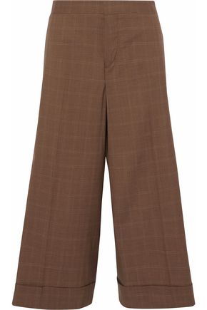 MARNI Checked wool culottes