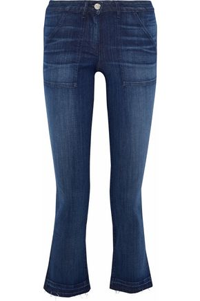 3x1 Faded mid-rise flared jeans
