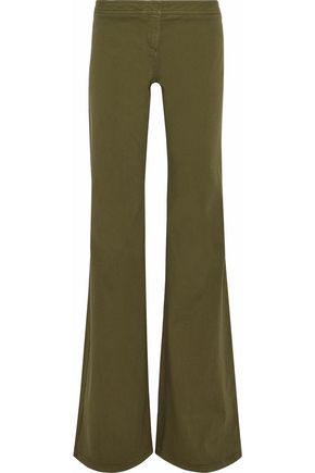 BALMAIN Low-rise cotton-blend twill flared pants