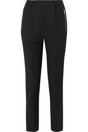 IRO Wool-blend crepe slim-leg pants