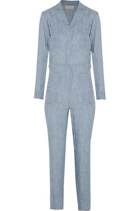 PAUL & JOE Pelops striped linen and modal-blend jumpsuit