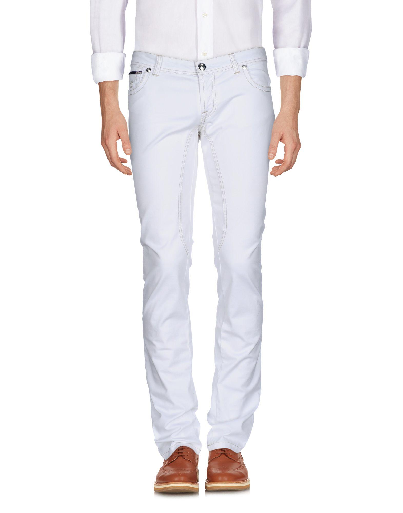 《送料無料》HEYSA メンズ パンツ ホワイト 32 コットン 97% / ポリウレタン 3%