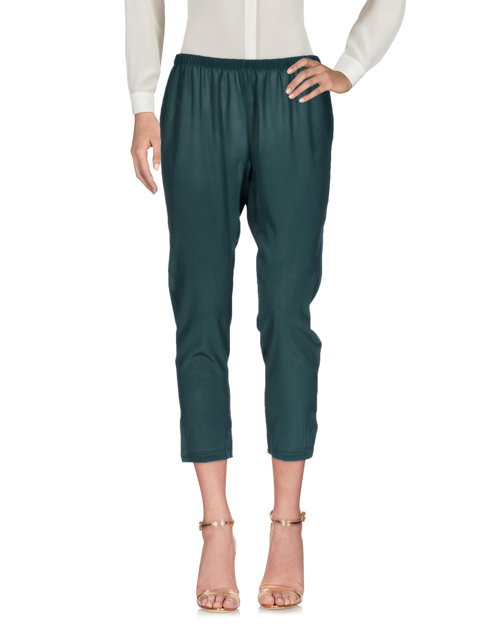 GOTHA Cropped Pants & Culottes in Dark Green