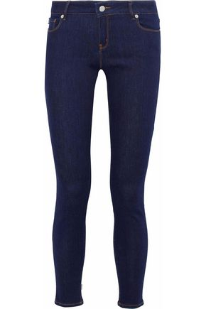 LOVE MOSCHINO Low-rise skinny-leg jeans