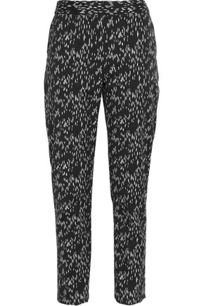 LELA ROSE Printed cotton tapered pants