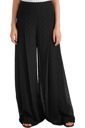 39904e92 Pleated polka-dot crepe wide-leg pants | SEE BY CHLOÉ | Sale up to ...