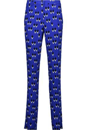 ETRO Printed stretch-crepe slim-leg pants