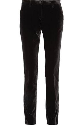 ETRO Cotton-blend velvet slim-leg pants