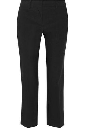 HELMUT LANG Cropped wool-blend straight-leg pants