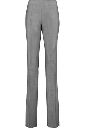 ANTONIO BERARDI Wool and mohair-blend straight-leg pants
