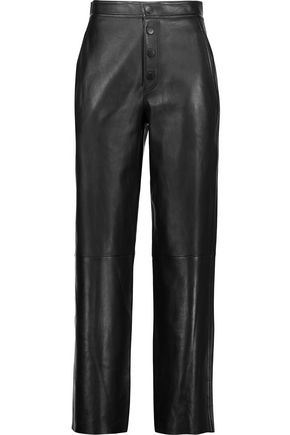 HELMUT LANG Leather wide-leg pants