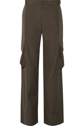 HELMUT LANG Cotton-twill wide-leg pants