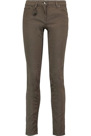 ROBERTO CAVALLI Cotton-blend twill slim-leg pants