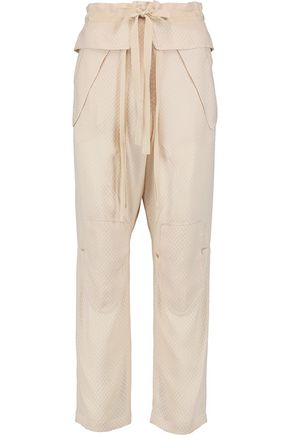 CHLOÉ Silk-blend cloqué tapered pants