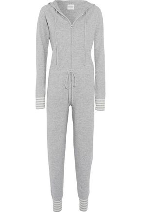 MADELEINE THOMPSON Valaxa wool and cashmere-blend hooded onesie