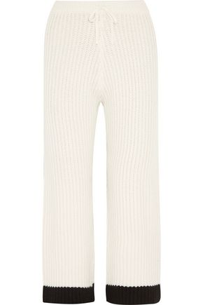 MADELEINE THOMPSON Mara ribbed wool and cashmere-blend wide-leg pants