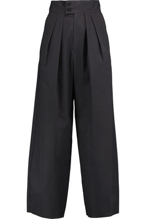 ISABEL MARANT Pleated cotton wide-leg pants