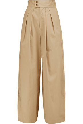 ISABEL MARANT Cotton wide-leg pants