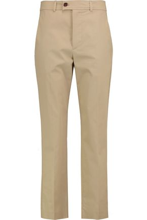 ISABEL MARANT Cotton-twill straight-leg pants