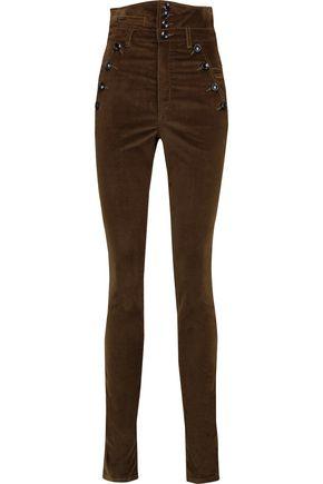 ISABEL MARANT Velvet skinny pants