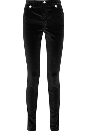 ISABEL MARANT Norton stretch-cotton velvet skinny pants