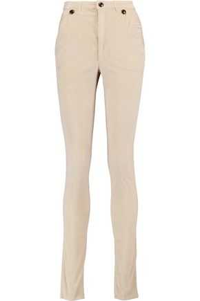 ISABEL MARANT Norton stretch-cotton velvet skinny pants